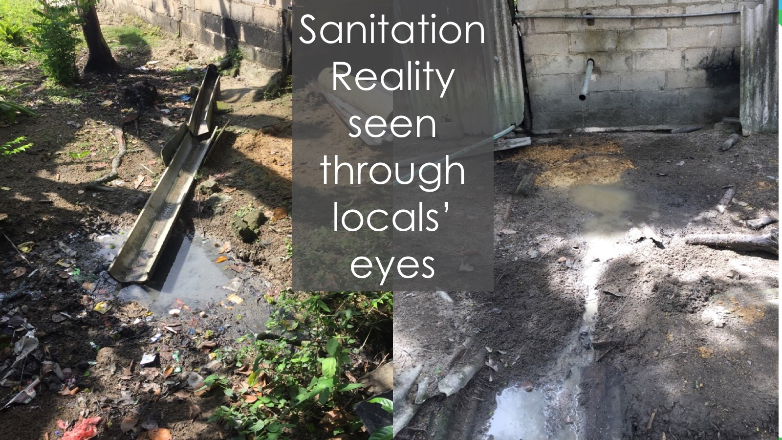 Sanitation reality seen through locals' eyes