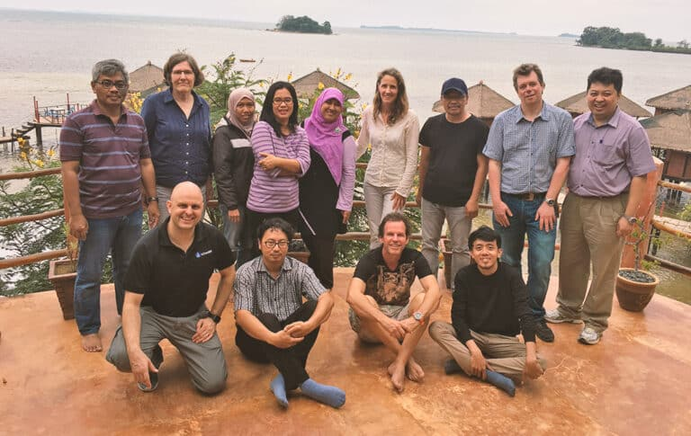 A few people from our team in Bintan, Indonesia